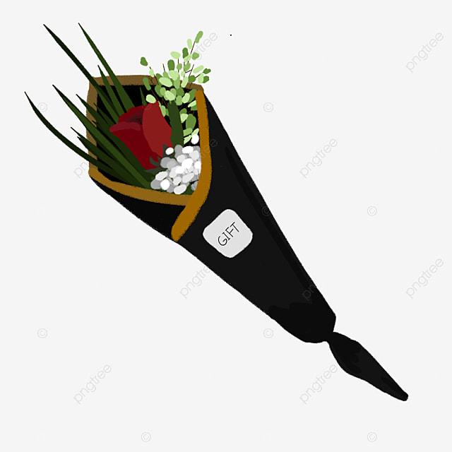 Rose Noire Dessin Fleur Rose Noire Image Png Pour Le Telechargement