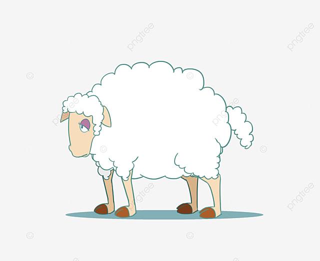 خروف الكرتون عيد الاضحى رسوم متحركة الأغنام المرسومة كرتون الخروف Png صورة للتحميل مجانا