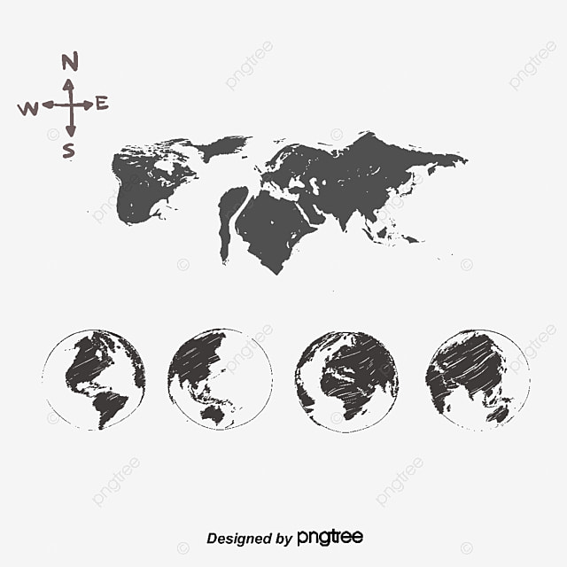 Vector hand drawn line map world map vector map global map png vector hand drawn line map world map vector map global map png gumiabroncs Images