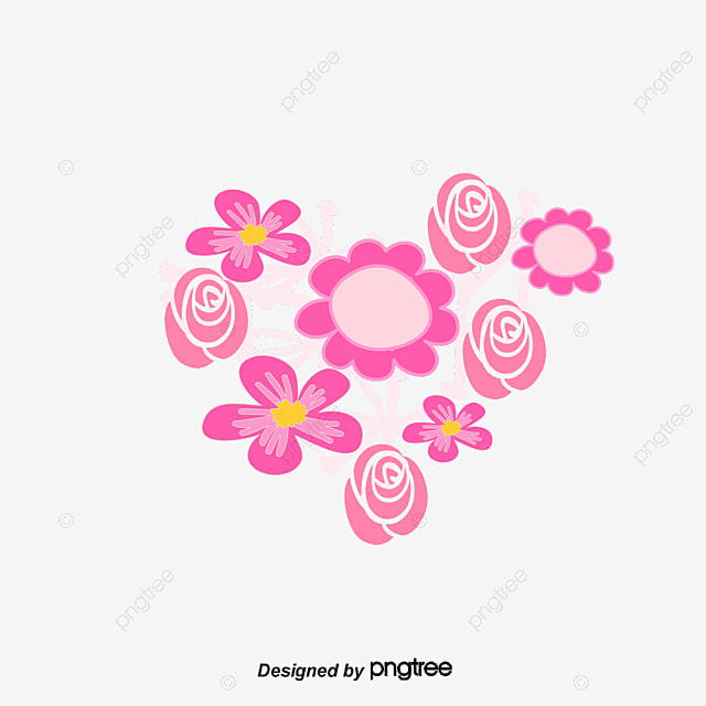 Pink floral heart flowers love decoration image png and vector pink floral heart flowers love decoration image png and vector mightylinksfo