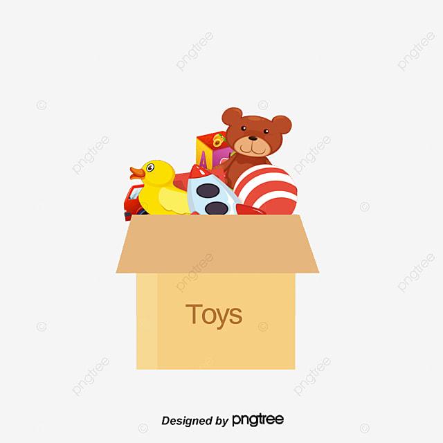Vector caja de juguetes caja de cart n juguete juguetes - Cajas para almacenar juguetes ...