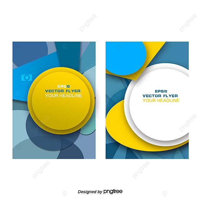 Vector Geometric Pattern Leaflets Flyer Template Creative Flyer