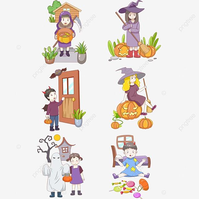 Animales De Dibujos Animados Vector Halloween Animales De Dibujos ...