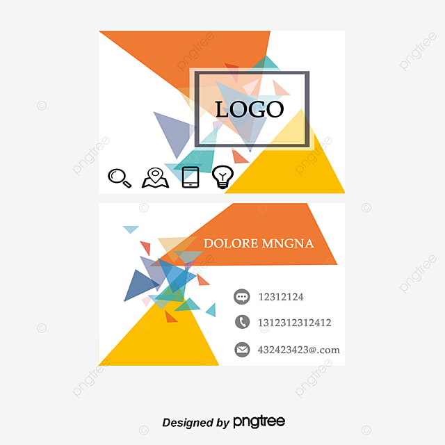 Cool Business Card Template Design Geometry Creative Personality