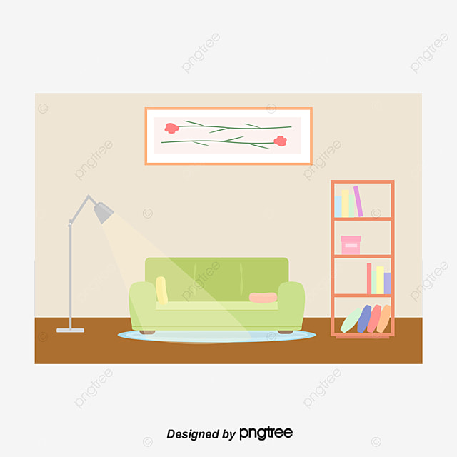 Vector Luxury Living Room, Living Room, Sofa, Table Lamp PNG and ...