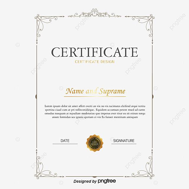 certificat de vecteur r u00e9tro en anglais certificat png et
