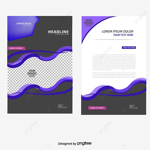 vector single page template curve background picture album single