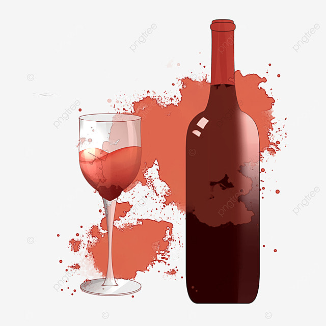 Vector Creative Red Wine, Red Wine Glass, Cartoon Red Wine ... Вино Png