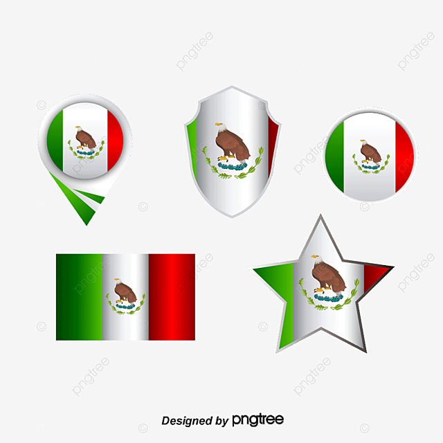 Vector Map And Flag Of Mexico Map Flag Banner Png And Vector For