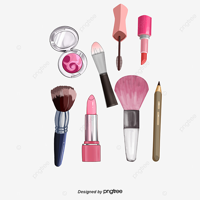 Hand Painted Makeup Supplies