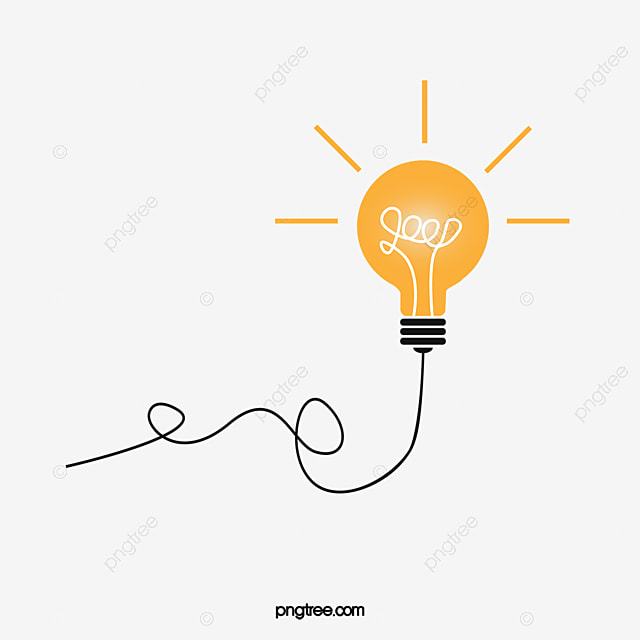Vector Bulb Idea Thought Light Free PNG And