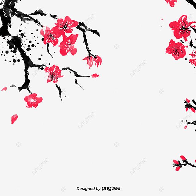 chinese painting plum blossom, Plum Flower, Hand Painted Plum Blossom, Plum PNG and