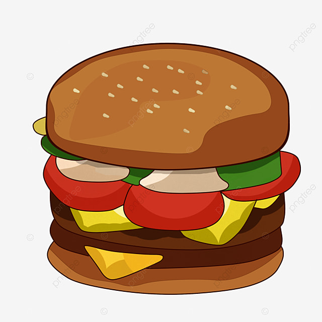 big burger burger clipart hamburger fast food png image