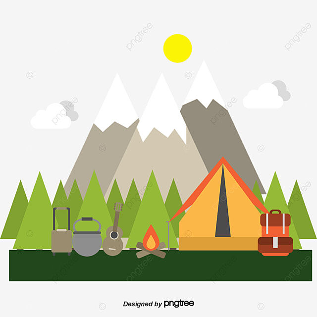 Vector Camping, Vector, Decoration, Camping PNG and Vector ...