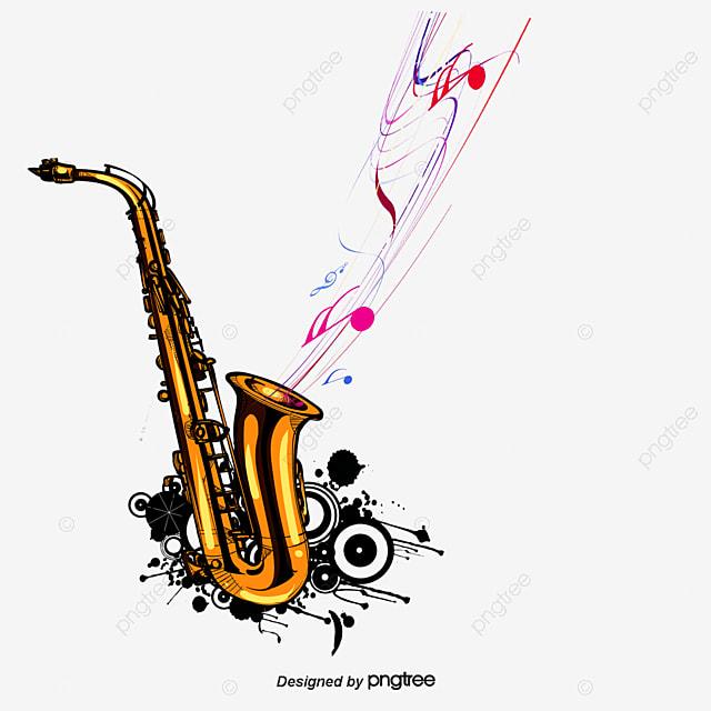 vector saxof243n y notas musicales saxof243n musica nota png y