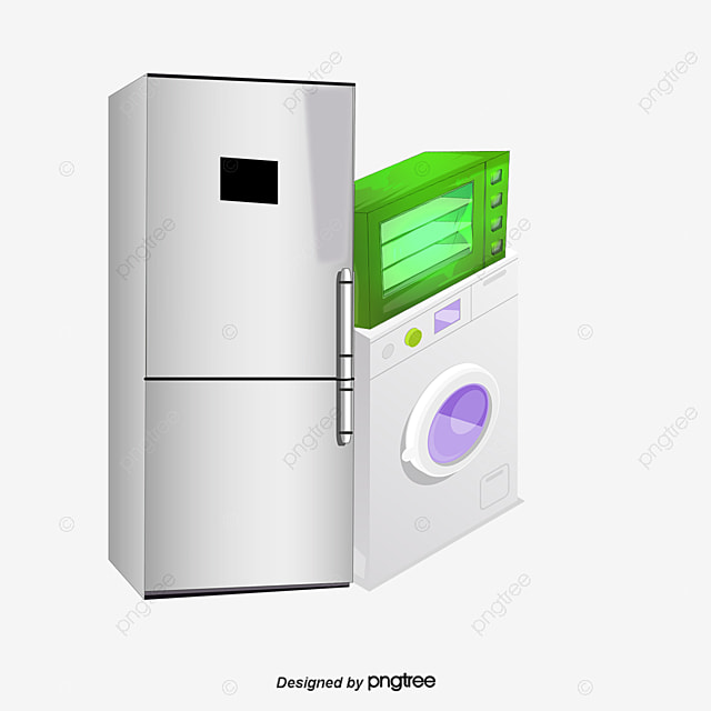 Household Appliances Electrical Equipment Refrigerator Washing Machine PNG Image And Clipart