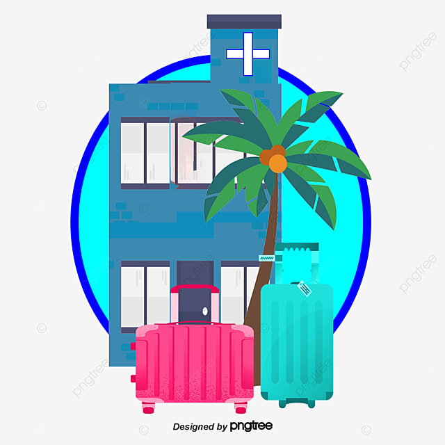 Vector Hotels And Coconut Trees Clipart Restaurant Tree PNG
