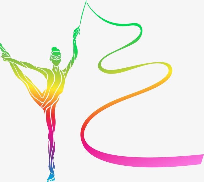 vector colorful ginastas a gin225stica colorido os