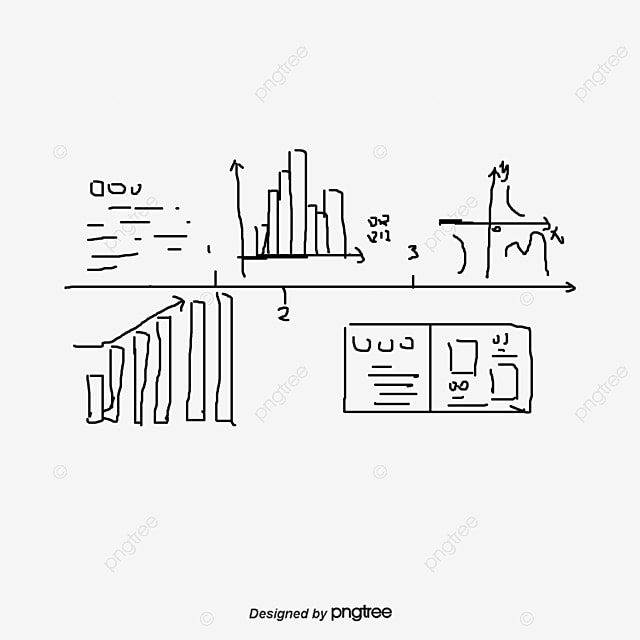 Histogram Sketch Vector Mathematical Symbols Sketch Vector
