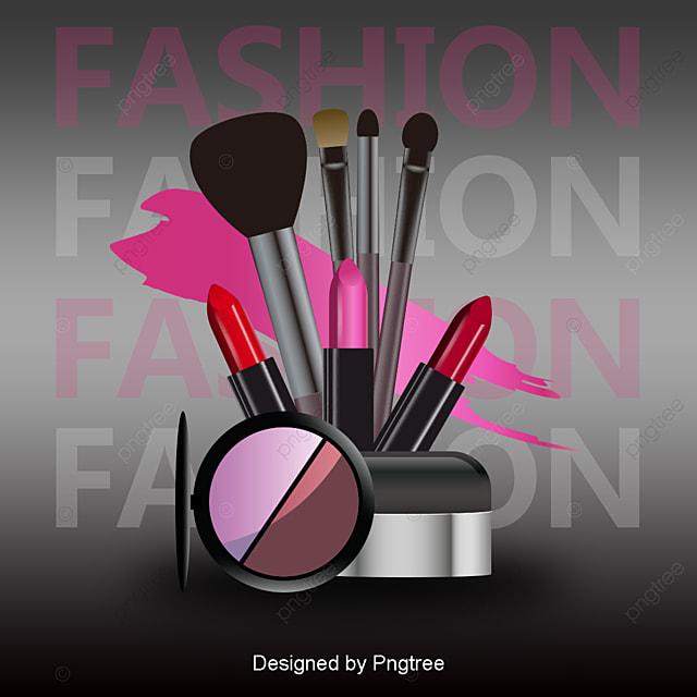 vecteur de maquillage maquillage dessin de maquillage rouge  u00e0 l u00e8vres fichier png et psd pour le