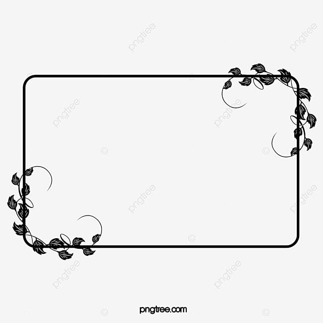 Black And White Pattern Frame, Frame Clipart, Pattern Border, Frame ...