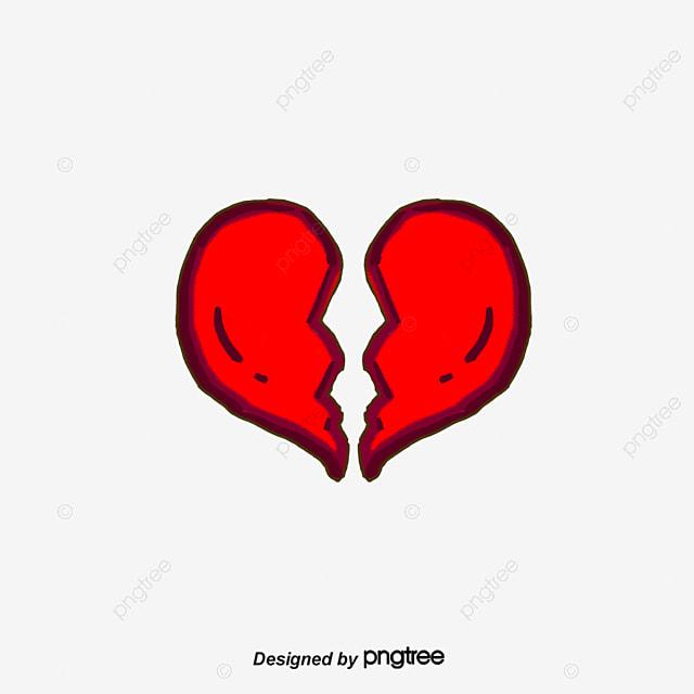 Le c ur bris le c ur bris triste dessin fichier png et - Dessin de coeur brise ...