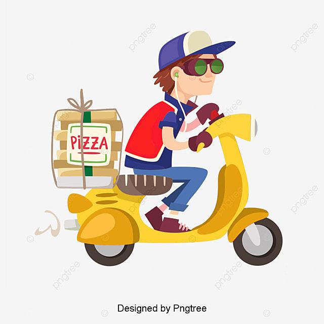 Vector Repartidor De Pizzas, Pizza, Repartidor, Hombre De Entrega ...