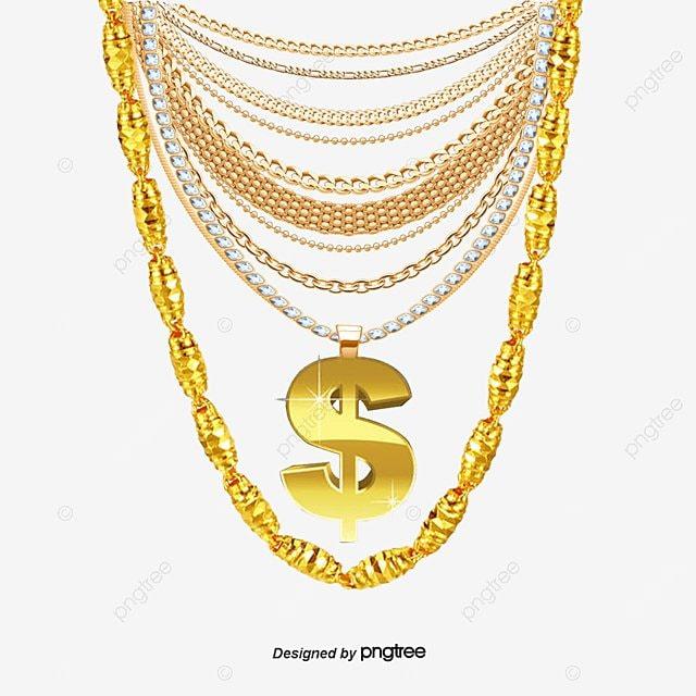 Collar De Oro De Vectores Collar De Oro Adorno Joyas PNG y Vector ...