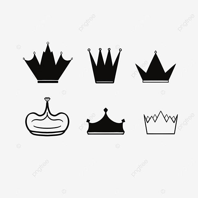 coroa negra coroa preto desenho preto e branco png imagem para download gratuito