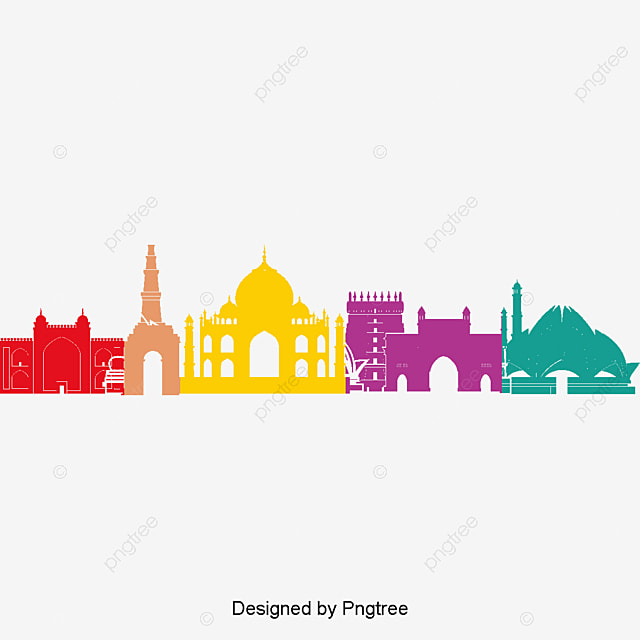 Vector Illustration Indian Architecture, House, City