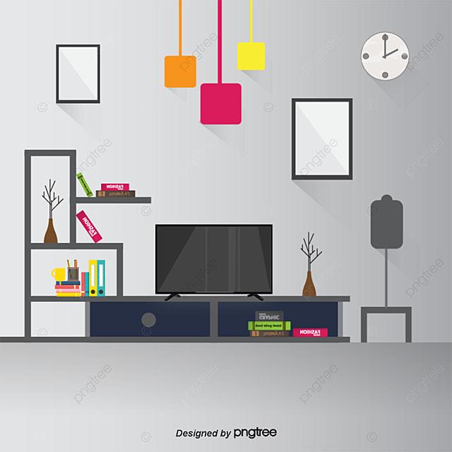 Vector Living Room, Living Room, Cartoon Living Room, Vector Cartoon ...