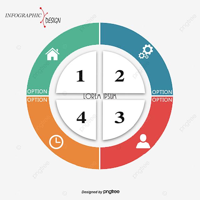 un vecteur de couleur de diagramme circulaire ppt d