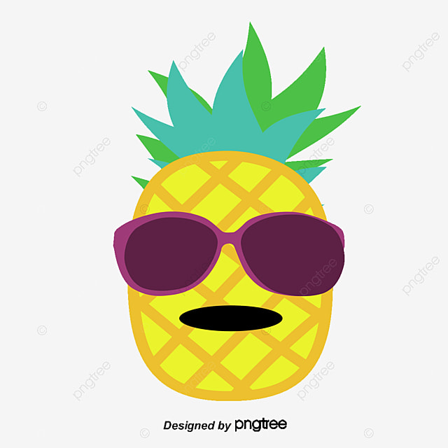 Vector Glasses Of Pineapple, Pineapple, Hand Painted ...