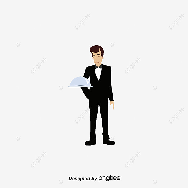 Cartoon Waiter Waiter Male Character PNG And Vector For Free Download