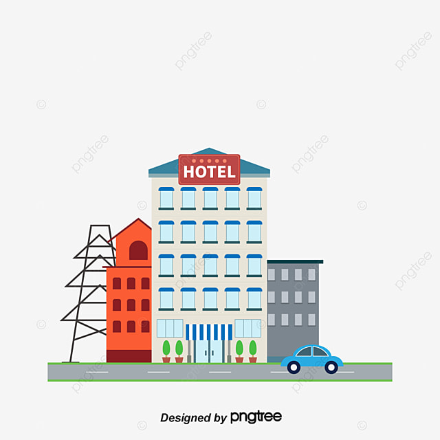 Cartoon Hotel Hostel Guesthouse Hotels PNG And Vector