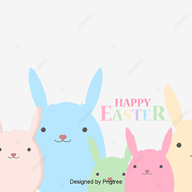vector easter bunny rabbit easter vector png and vector for free rh pngtree com easter vector background easter vector free