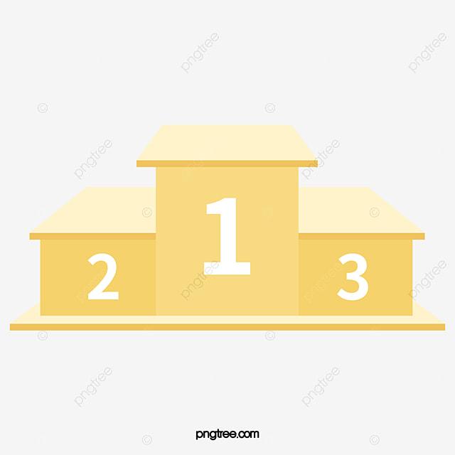 le vecteur de jaune de l estrade jaune de l estrade podium le dessin de l estrade png et vecteur