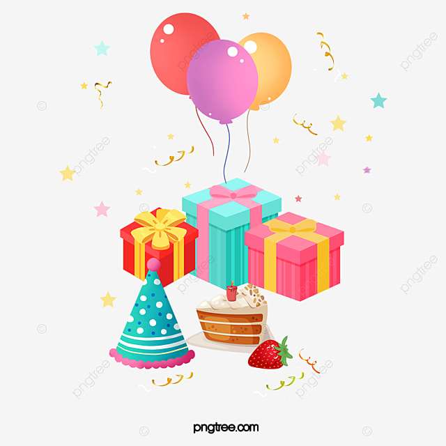 Vector Birthday Gifts And Balloons, Birthday, Gift, Balloon PNG And Vector For Free Download