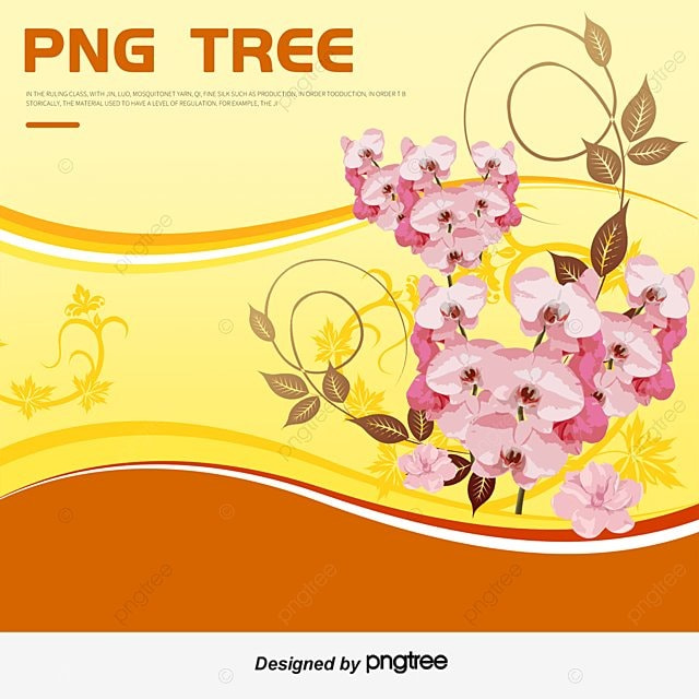 Golden Flower Effect Vector PNG And