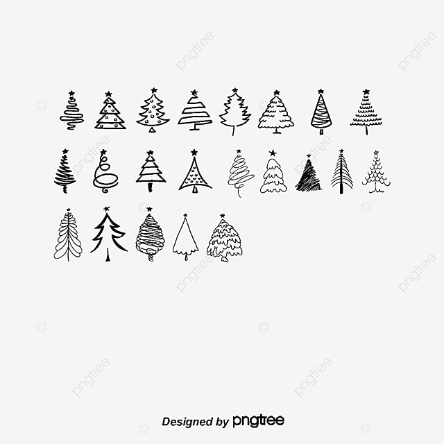 vector black silhouettes christmas tree tree clipart christmas tree vector png and vector