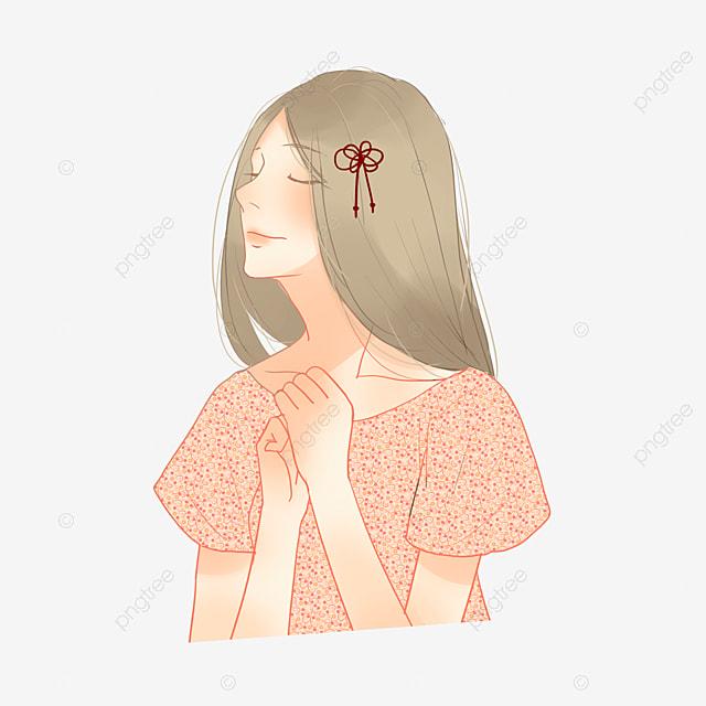 girl with closed eyes eyes clipart cartoon beauty hair