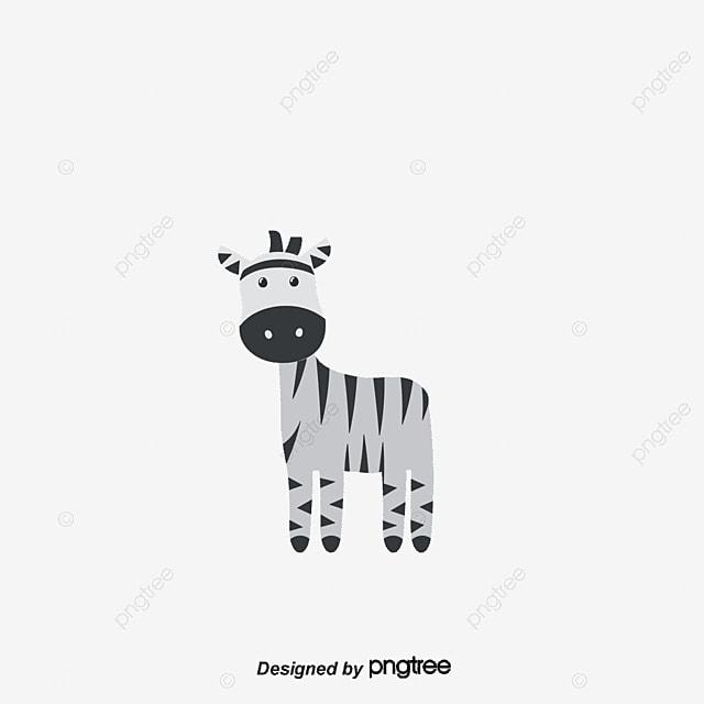 La Girafe Et Zèbre De Vecteur Des Personnages De Dessins Animés