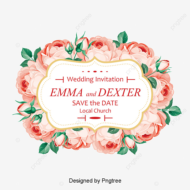 Creative Roses Invitation Design Rose Wedding Invitations Wedding