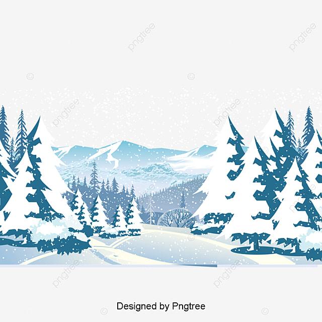Зимний лес картинки вектор
