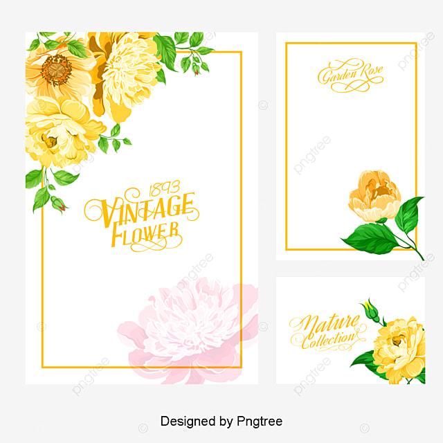 Vector Flores Convites Convites Casamento Casamento Png E: Vetor De Cartão De Convite Aquarela De Flores Cartão De
