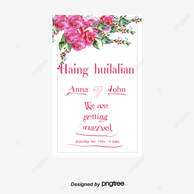 vector watercolor floral invitation card romantic invitation