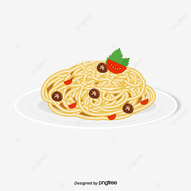 Vector Pasta Tomato Face Cartoon Noodles Food Png And
