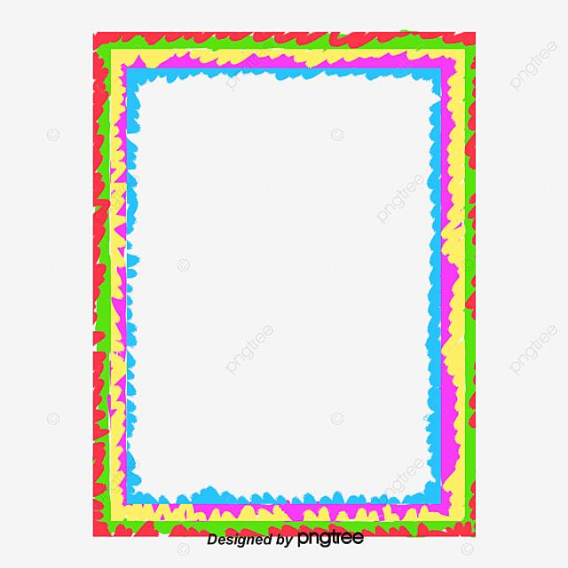 rainbow box, Texture Border, Rainbow, Simple PNG and PSD