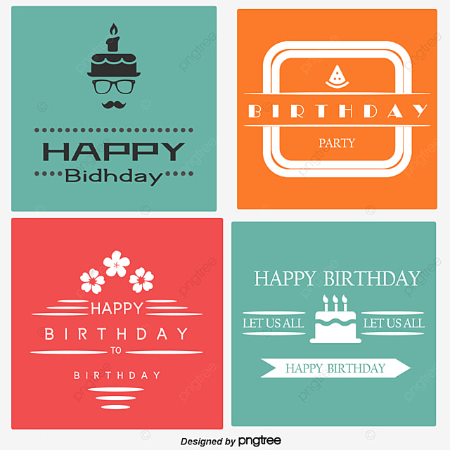Vector Birthday Card Design Clipart PNG And