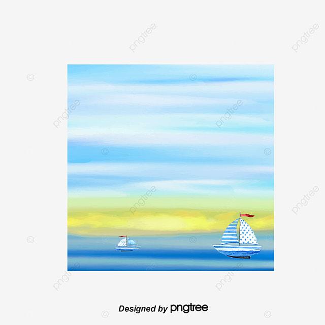 Hermoso paisaje de acuarela barco lake decoracion for Decoracion y paisaje s a